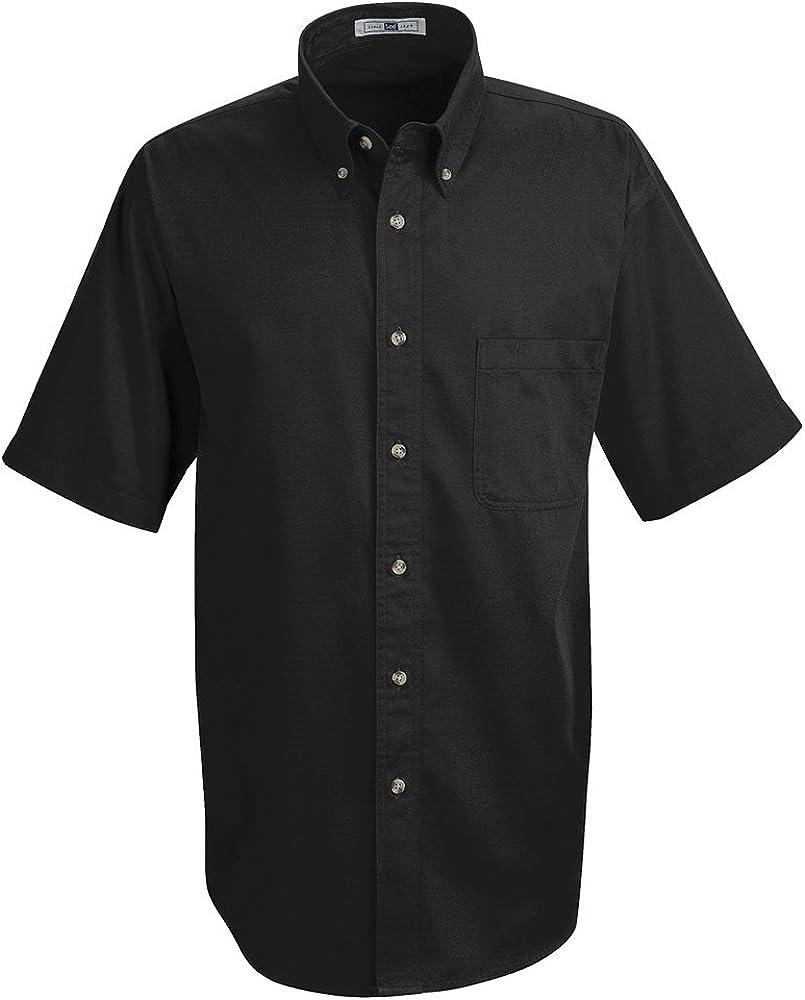 Lee Men's Meridian Performance Twill Shirt Black 5.0oz Short Sleeve