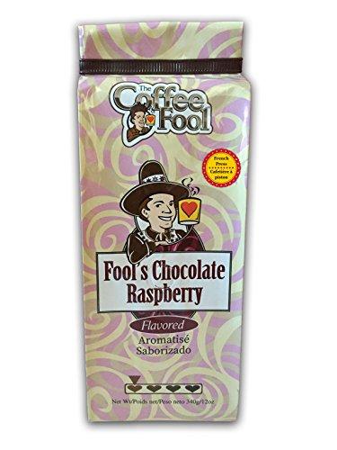 The Coffee Fool French Press Coffee, Fool's Chocolate Raspberry, 12 Ounce