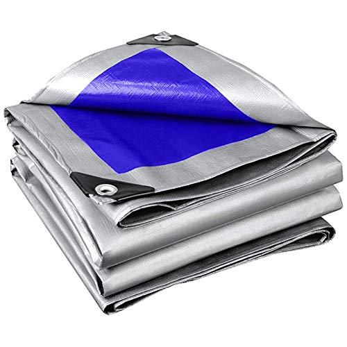 Toldo Impermeable de PE Lámina de Lona Resistente Al Desgarro con Protector Solar Resistente Cubierta De Lona de Aislamiento Antienvejecimiento Paño Impermeable Plegable con Ojales