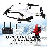 Lorenlli Ajuste JJR / C X7 Smart RC helicóptero sin escobillas Motor Drone RC con 5G WiFi FPV 1080P HD cámara GPS Quadcopter baterías Dobles