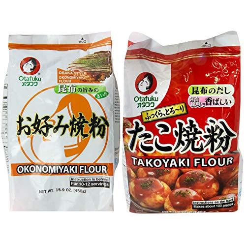 Otafuku Okonomiyaki and Takoyaki Flour | 16 Oz of Each