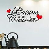 Wandaufkleber Sprüche Französisch Küche Zitat La Küche