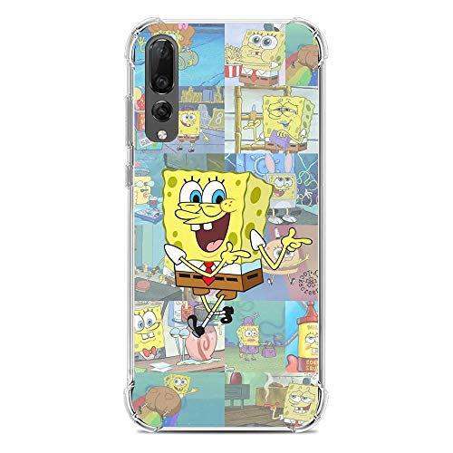 LUOKAOO Ultra TPU Silicone Rubber Gel Edge Protection Cover Case for Huawei P30-Spongebob-SquarePants Patrick-Star 7