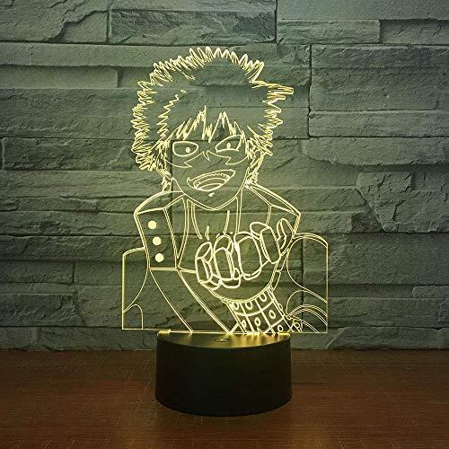 3D Nachtlicht Naruto 7 Farbwechsel 3D Led Visuelle Modellierung Animation Charakter Bild Nachtlicht Kinder Touch-Taste Usb Tischlampe Home Dekoration Beleuchtung Geschenke-Touch + Remote Control