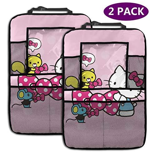 TBLHM Hello Kitty with Friends Lot de 2 organiseurs pour siège arrière de Voiture avec Support pour Tablette