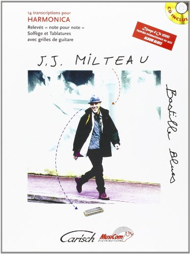 Milteau Jean-Jacques Bastille Blues Harmonica Book/Cd French