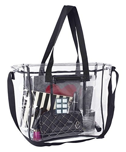 Deluxe Clear Bag Extra Large Lunch Box with Adjustable Straps and Handles Tote Container for The Office, Travel, Stadiums and Security Checkpoints for Men, Women, Kids
