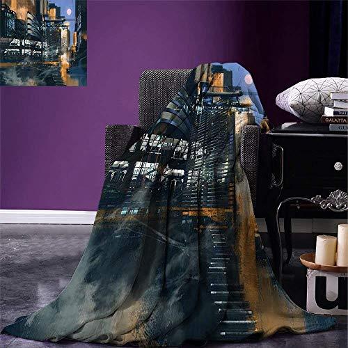 ZheQR Manta de Tiro futurista Pintura Digital Ciencia ficción Arquite