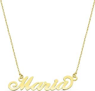 Alda Joyeros Collar Nombre Personalizado Oro Amarillo 18 kilates. (Gargantilla hasta 10 Letras) Carrie Font