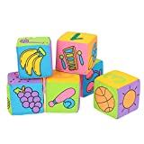 Baby Cloth Building Blocks, Zahlen Diverse Play Baby Soft Baby Cloth Building Blocks, sicher für den Pool Allgemeine Aktivitäten Badestrand(Color box, Fabric building blocks)