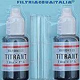 Filtri Acqua Italia Titrant Kit Analisi Durezza Acqua (Gradi Francesi) per Misurare Calcare, Set 2...