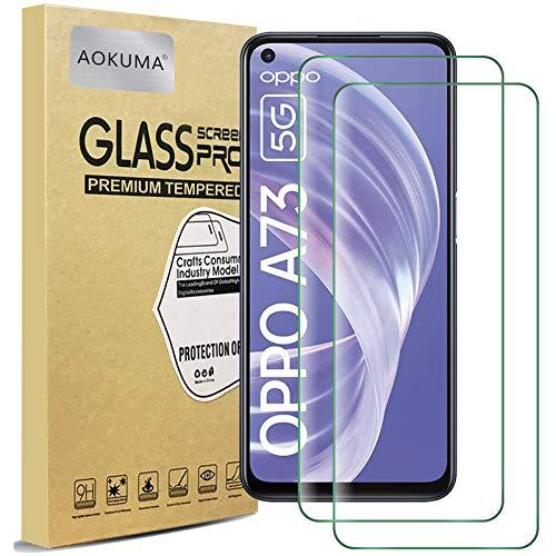 AOKUMA Cristal Templado OPPO A73 5G, [2 Unidades] Protector Pantalla para OPPO...