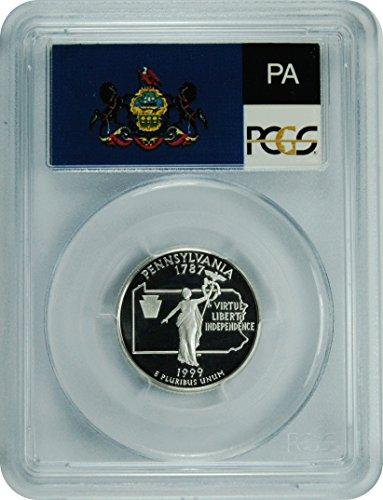 1999 S Pennsylvania Silver Statehood Pennsylvania Silver Statehood Quarter DCAM PCGS PR-69