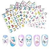 Pegatinas 3D para uñas autoadhesivas, 10 hojas de...
