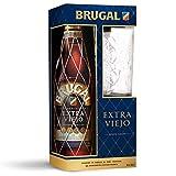 Brugal Extra Viejo Ron Dominicano, 38% + Estuche Vaso alto - 700 ml