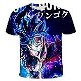 Casual Graphic Short Sleeve Dragon Ball Z Short Sleeve Mens Womens 3D Printed Goku t-Shirt Summer Unisex Japanese Anime Funny Shirt Teenager sportswear-1101_M