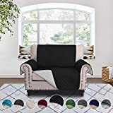 RHF Reversible Chair and a Half Cover&Chair and a Half Covers,Slipcovers for Chair and a Half, Chair and a Half Covers,Pet Cover for Chair and a Half,Machine Washable (Loveseat Small: Black/Gray)