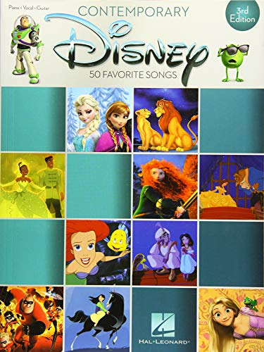 Contemporary Disney: 3rd Edition: Songbook für Klavier, Gesang, Gitarre: 50 Favorite Songs (Piano-vocal-guitar)