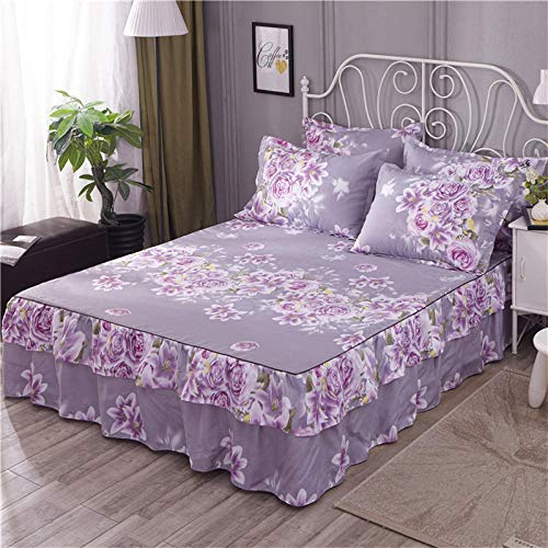 GTWOZNB Non Iron Soft Poly-Cotton Plain Dyed Flat Bed Sheet Single, King Available All-inclusive bed sheet bed skirt-6_2*2.2m