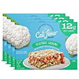 Cali'flour Foods Vegetable Lasagna (4-Pack) - Keto Friendly Frozen Meal   Low Carb, Gluten and Grain Free   Fresh Cauliflower Base