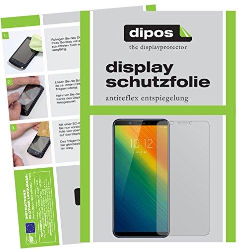 dipos I 2X Schutzfolie matt kompatibel mit Lenovo K5 Note 2018 Folie Bildschirmschutzfolie