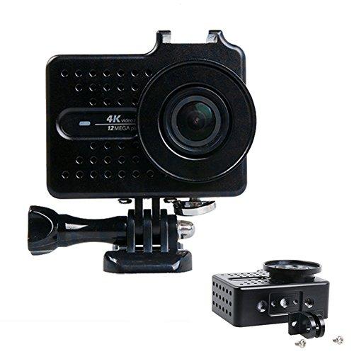 JINSERTA Multifunktions-Kühlrahmen für Xiaomi Yi 4k Xiao Yi 2, Zubehör für Action-Kamera mit UV-Filter, Schwarz