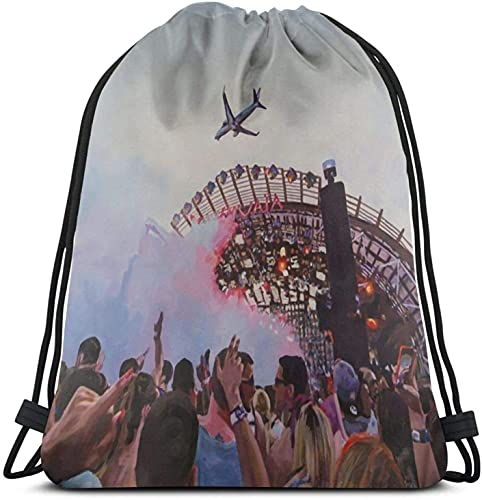 XCNGG Ushuaia, Ibiza Mochila con cordón Paquete de saco de gimnasio Paquete de cincha sólido Saco Sinch Bolsa de deporte con bolsillo Bolsa de playa Regalo para hombres Mujeres
