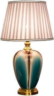SMEJS Lino Modificado Tambor en Forma de Hardcover sombreado de Noche Contador de la lámpara Simple decoración de la Sala...