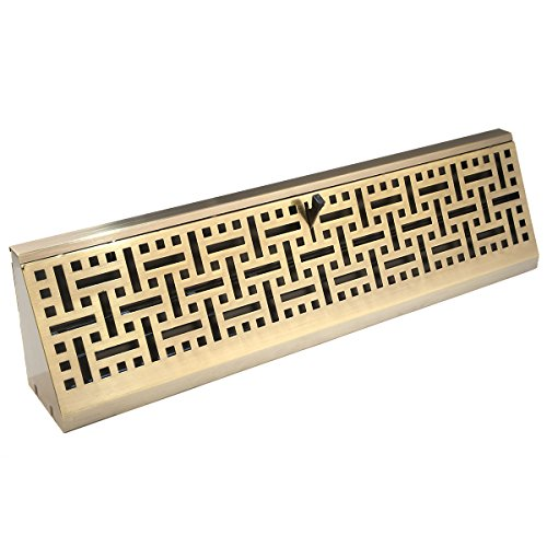 Accord AMBBABB18 Baseboard Register with Wicker Design, 18-Inch(Duct Opening Measurement), Antique Brass
