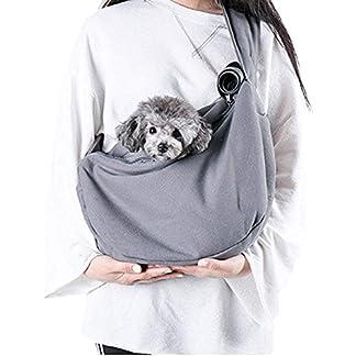 Maxmer Pet Sling Carrier, Dog Sling Bag Shoulder Carry Tote Handbag Dog Travel Carrier Bag for Cat Puppy Kitty Rabbit Bunny 20