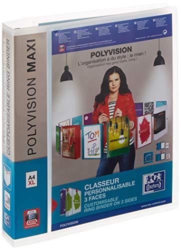 Elba 100201773 Ringbuch polyvision Maxi, A4, 4 Ringe(Rückenbreite 4,5 cm, für circa 300DINA4-Blätter) extrabreit, individualisierbar transparent