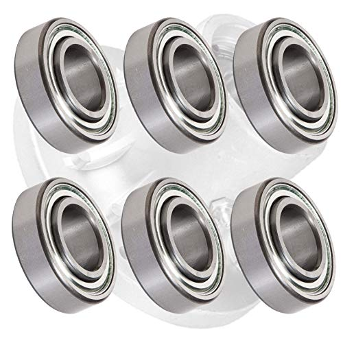 HD Switch (6 Pack) Spindle Bearings Replaces Exmark 103-2477 - HIGH Temp Grease Upgrade
