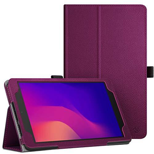Fintie Schutzhülle für Alcatel Joy Tab 2 20,3 cm (8 Zoll) 2020 Release (Modell: 9032Z) – Premium PU-Leder Schutzhülle mit Ständer & Stifthalterung für Alcatel Joy Tab 2 Tablet (8 Zoll) (lila)
