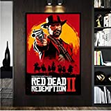 PHhomedecor Red Dead Redemption 2 Póster De Juego Pared Arte Impresión Pintura Papel Pintado Decoración Pintura para Sala De Estar Decoración del Hogar(Sin Marco 50X70Cm),A876