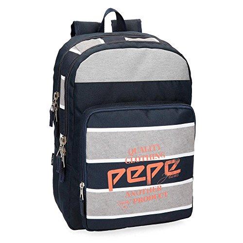 Pepe Jeans Pierre Mochila adaptable a carro, doble compartimento, 44 cm