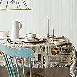 MCZ Waschbare Tischdecke Alphabet Zeitung Modetuch Tischdecke Bezugstuch Home/Hotel Einfache Moderne Tischdecke Couchtisch Tischdecke (135 * 135cm)