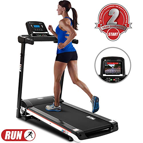 LITTLE TREE Folding Running Machine Treadmill, Digital Control, Walking Machine Fitness...