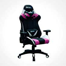 ZENOX Saturn Series Ergonomic Office Home Gaming Chair with Armrest Headrest Lumber Support Pink