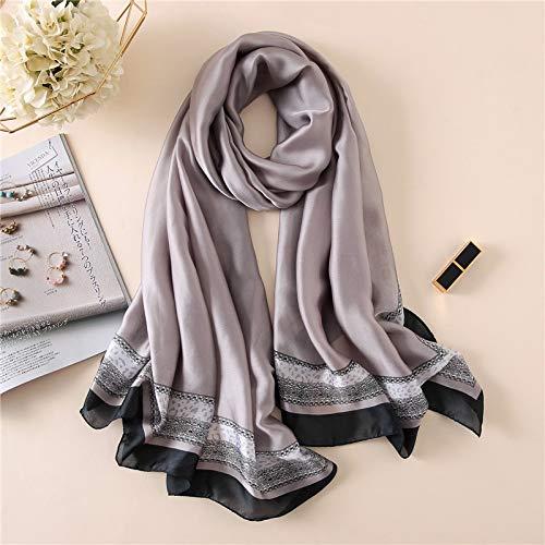 Vcnhln Chal de protección Solar de otoño Elegante Bufanda de impresión Bufanda Dama Suave Toalla de Playa Gasa Hijab