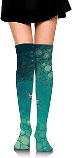 Jesse Tobias, Calcetines hasta la rodilla Calcetines largos de natación para niños Calcetines de compresión de media de arranque para mujeres SOCKS-0239