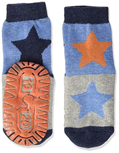 Sterntaler Baby Jungen Sterntaler Glitzer-flitzer Air Sterne Socks, Blau Mel., 28 EU