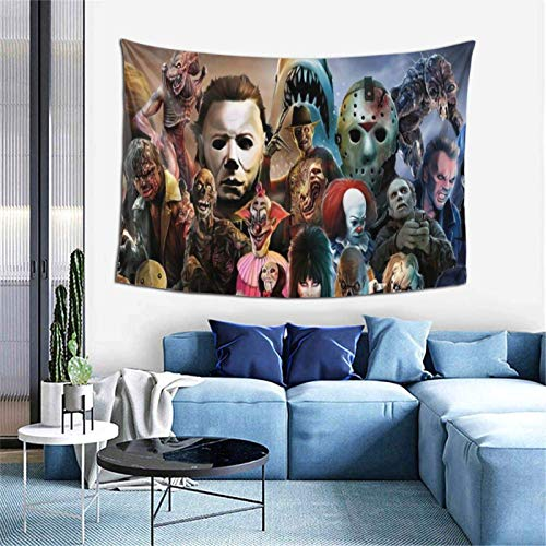 Horror Mysterious Character Wall Tapisserry, 3D-Druck Decke Wall Art Tapestry Wall Hanging Tapestry for Living Room Bedroom Home Holiday Decor 152,4 x 101,6 cm