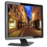Eyoyo 17 Pulgadas 1280x1024 TFT LCD CCTV HDMI HD Pantalla de Color del Monitor con Entradas BNC/VGA/AV/HDMI/Salida del Auricular del USB,Altavoz Incorporado (17 Inch 1280x1024)