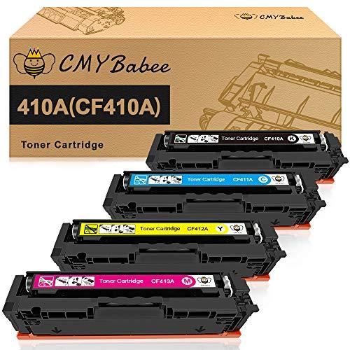 CMYBabee 410A 410X Sostituzione cartuccia toner compatibile per HP 410A HP 410X CF410A CF410X CF411A CF412A CF413A per HP Color Laserjet Pro MFP M377DW M477FDW M477FDN M477FNW M452DN M452DW