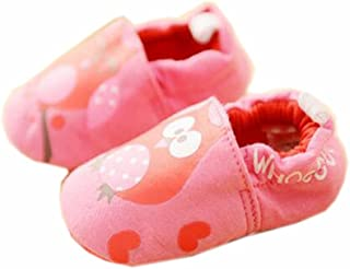 Baby First Walkers Soft Sole Cotton Toddler Shoes Red Owl
