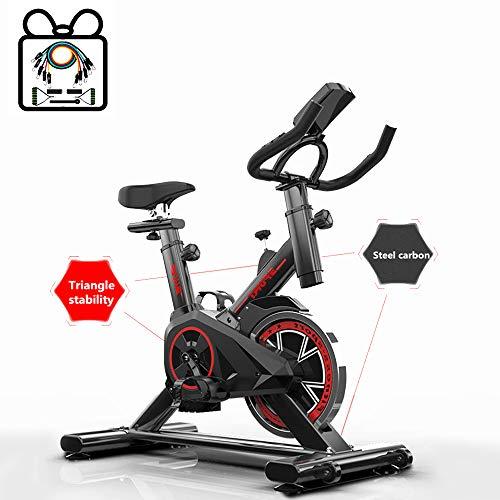 Momi Speedbike – Ergometer Fahrrad Pulsmesser LCD Display - 6-8 Kg Schwungmasse - Bis 150 Kg – Heimtrainer Fitness Indoor Cycling Bike