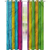 Cortinas para sala de estar colorido vibrante tablón vertical...