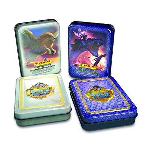 Panini- Metal Box Trading Cards Fantasy Riders 2. La invasión de los Gigantes Caja (003818TINSE)