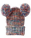 OshKosh B'gosh Little Girls' Multicolor Pom Pom Hat - 4-6X