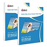 Double Sided Glossy Photo Paper - 200 Sheets Uinkit 8.5x11 Inches 9.5Mil 200Gsm For Inkjet Paper Printing Only